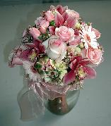 Bouquet for a Bridesmaid, Cymbidium Orchids, Gerbera Daisies, Roses...