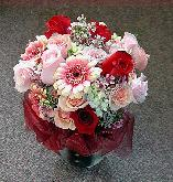 Bouquet for a Bridesmaid, Roses, Gerbera Daisies...