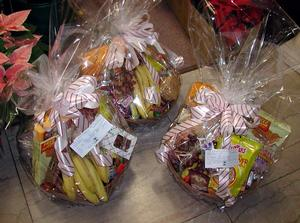 Fruit, Gourmet Cookies and Candy Basket